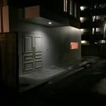 日本料理 e. - 白い壁と洋風扉@2015/10