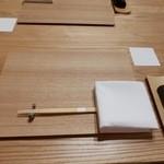 日本料理 e. - セッティング@2015/10