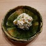 日本料理 e. - 【柿とオカヒジキの白和え】◎2015/10
