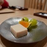 日本料理 e. - 【きな粉のムースとみかんとマスカット】♫2015/10