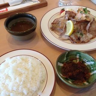 サンキュー - 料理写真:ポークサンキュー定食♡