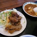 中華菜館 彩中 - 焼肉と麻婆豆腐(日替ランチ)