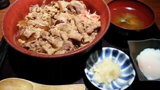 金舌 赤坂 - だし牛丼 肉1.5倍+ご飯大盛り 2015.10