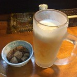 居酒屋 小雪 - 料理写真:生ビールとお通し