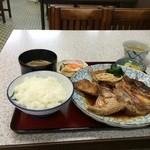 みどり食堂 - いただいた、明石鯛のあら煮定食990円です(2015.10.24)