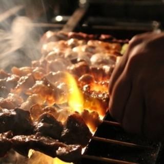 【串焼き】炭火で焼き上げる自慢の串