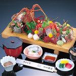 漁火 - 料理写真:名物板盛定食(4名盛り)