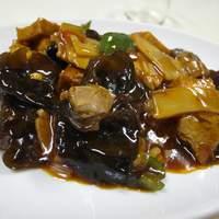 上海小吃 - 家常豆腐(揚げ豆腐辛子炒め)