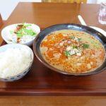 餃子の花家 - ランチ担々麺セット(白胡麻、980円)