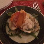 夜木 - 牡蠣とお米とカラスミ500円/piece