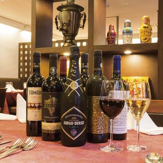 ワイン発祥の地、東欧とコーカサス地方のワインを揃えてます。