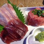 庄和丸 - 鮪三種盛(カマトロ、アゴ、すきみ) 1,000円