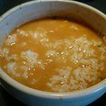 43594304 - 甘海老出汁の味噌チーズつけ麺 ぞうすい