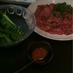 炭火焼肉 銘柄黒毛和牛 福楽苑 - 焼肉ロース