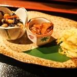 鯛めしや はなび - はなび御膳(皿盛:ひじき、マグロの煮物、サツマイモのポテトサラダ)