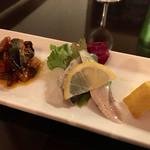 チェント アンニ ギンザ - 前菜盛り合わせ3種