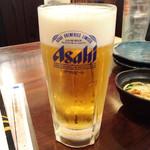 やきとり工房  - 生ビール290円(17時までのサービス)