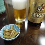 八木秀 - ビールは「ヱビス」