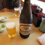 つきじ天辰 - 20151024 ビール 中ビン  650円