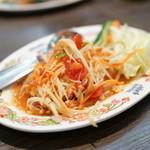 タイ国料理 ゲウチャイ - 2015.10 ソム タム タイ(1,080円)