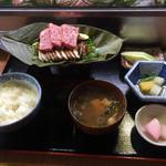 泉坂 - 料理写真:ほうば味噌焼き定食1940円