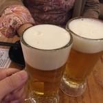 43617356 - 乾杯っwwwでも、瓶ビールのほうがキンキンねっ★