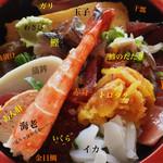 43618061 - ちらし寿司。                       なんか耳なし芳一みたいな写真になってしまいました。^^;