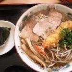 麺処 十 - 天ぷら中華850円+おむすび130円