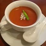 中華ビストロうちだ - 中華ビストロランチのスープ