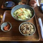 花村そば - 野菜半そば そば130g¥500  ジューシーセット価格  ¥100