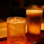 紀風 - 梅酒と生ビールで乾杯