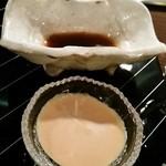 横浜うかい亭 - ステーキ用のポン酢と山葵ソース。