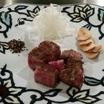 横浜うかい亭 - 特選うかい牛のサーロインステーキ。