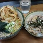 どん八 - 料理写真:肉丼セット+かき揚げ