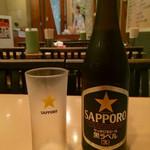 43640162 - ビール・餃子セット ¥790 の瓶ビール