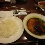 キタカレー - そして私達の頼んだスープカツカレー1490円。