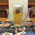 魚々市 - 生ビール