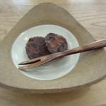 和料理 日和 - 食後の甘味。いちじくのようかんみたいなもの。