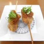 めいめい - 料理写真:Aコース:串揚げ「サーモンおろしぽん酢」そのまま