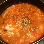 焼肉牛星 - ユッケジャンスープ
