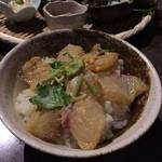 酒蔵 魚の家 - 鯛の胡麻茶漬け ※こちら、ご飯とは鯛のお代わり自由!