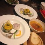 43655635 - 前菜、スープ、サラダ、パン