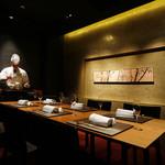 銀座 kappou ukai - 完全個室(1室)。別途 個室料¥10,800を承ります。