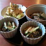亀屋 - 小鉢3品