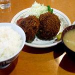 ニュー王将 - メンチカツ定食
