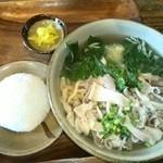 沖縄そば ゆい - 中味そばとおにぎり
