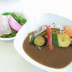 ぱんだかふぇ - グリル野菜と十六穀米のカレーランチ¥1000☆♪