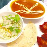 セイロン - チーズナンのセット ひよこ豆