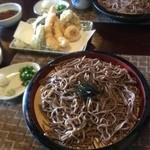 神社そば 村の下 - ザルそば 天ぷら盛り合わせ