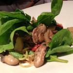 クッチーナ イタリアーナ セルヴァッジョ - 牡蠣のパスタ ズームアップ